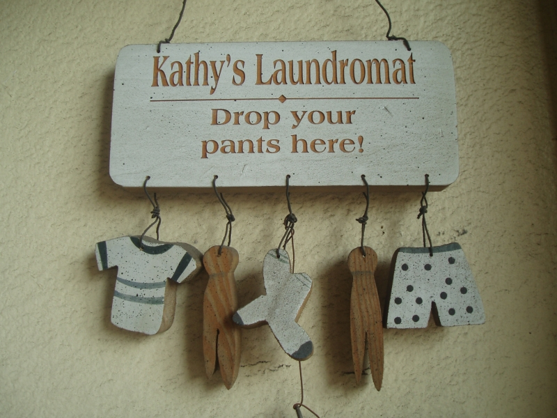 Kathy's Laundromat. Drop your pants here.